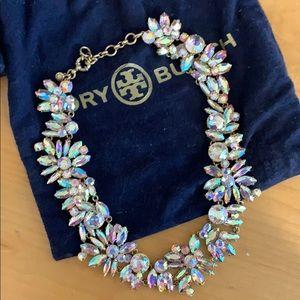 J Crew Crystal Floral Necklace